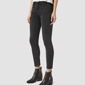 Allsaints Nim High Waisted Crop Skinny Jeans